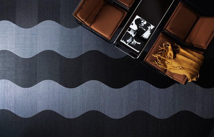 Bolon Woven Vinyl Flooring Portrait: Wave